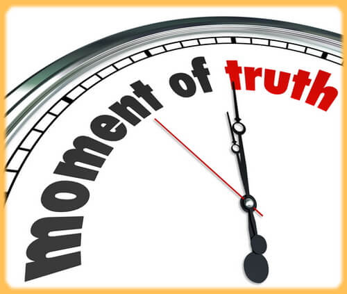 Moment of truth graphic