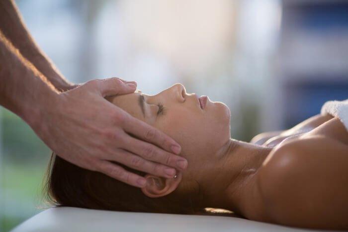 head massage session